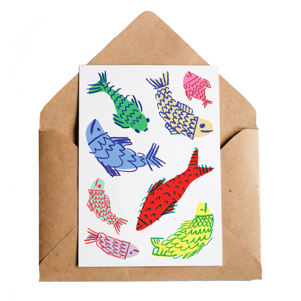 Lottie Hall Happy Fish Card