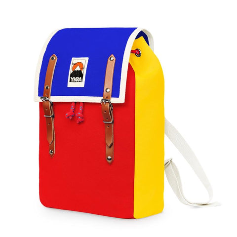 YKRA Matra backpack - Blue Red Yellow