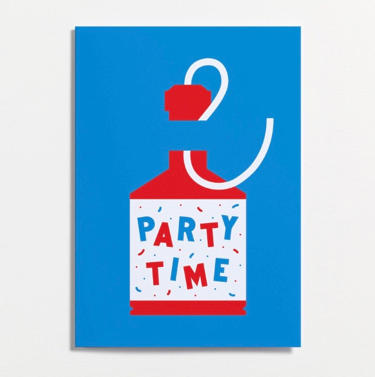 Crispin Finn Party Time Card