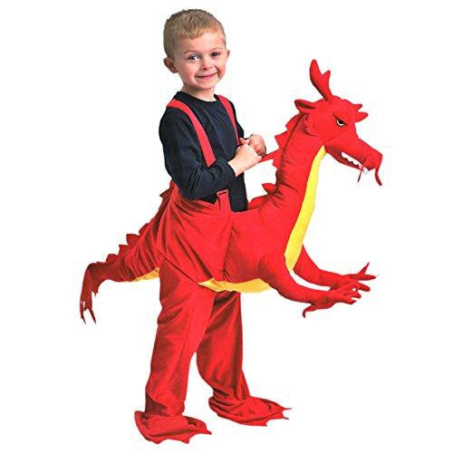 Kids Dress Up Riding Children Red Dragon Fancy Dress Costumes Ages 3-7 Years