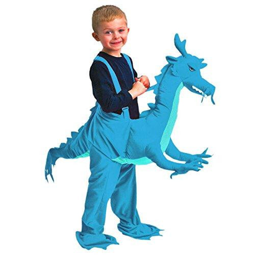 Kids Dress Up Riding Children Blue Dragon Fancy Dress Costumes Ages 3-7 Years