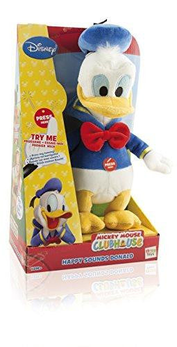Disney Mickey Mouse Clubhouse Happy Sounds Donald Soft Plush Toy