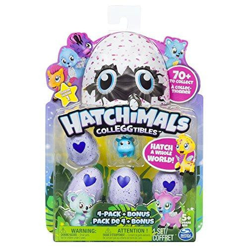 Hatchimals Colleggtibles 4 pack + Bonus Character Set
