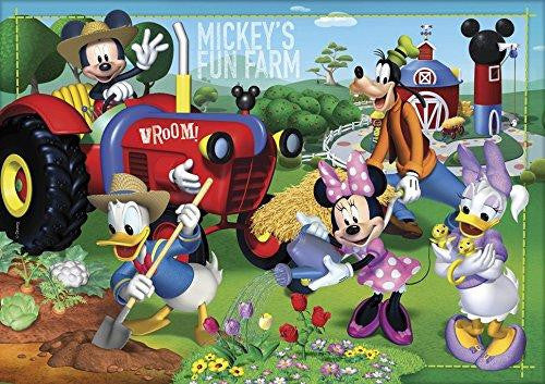 Clementoni Disney Mickey Mouse Supercolor Fun Farm 104 Piece Jigsaw Puzzle