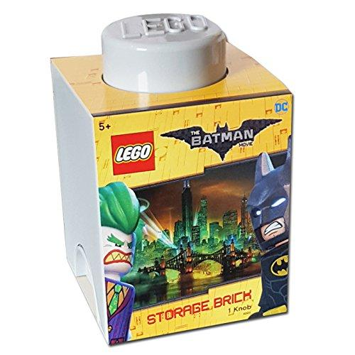 Lego The Batman Movie Storage Brick Grey 1 Knob
