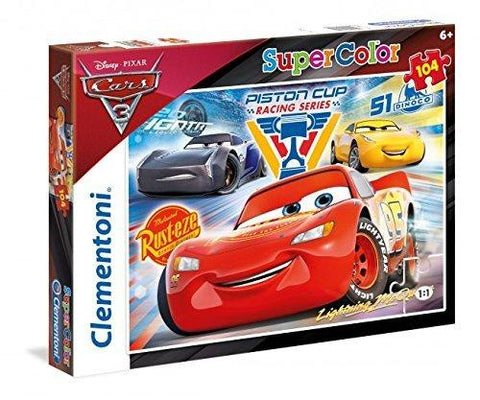 Clementoni Disney Cars 3 Super Colour 104 Piece Jigsaw Puzzle