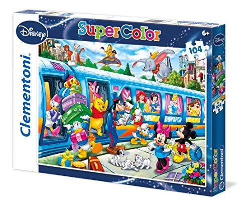 Clementoni Disney Family Train 104 Piece Super Color Jigsaw Puzzle
