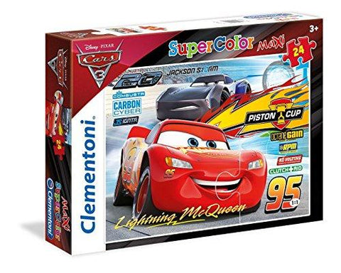 Clementoni Disney Cars 3 Super Color 24 Piece Jigsaw Puzzle