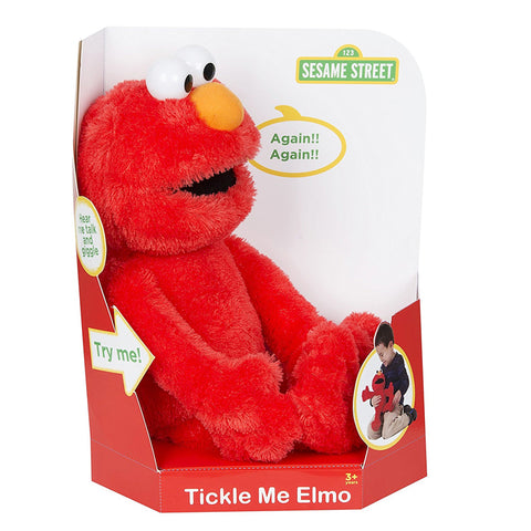 Sesame Street Tickle Me & Talking Elmo Soft Plush Toy
