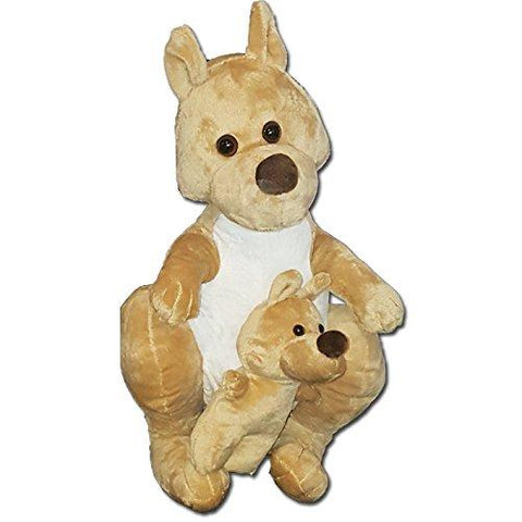 With Love 38cm Kangaroo & Joey Soft Plush Toy