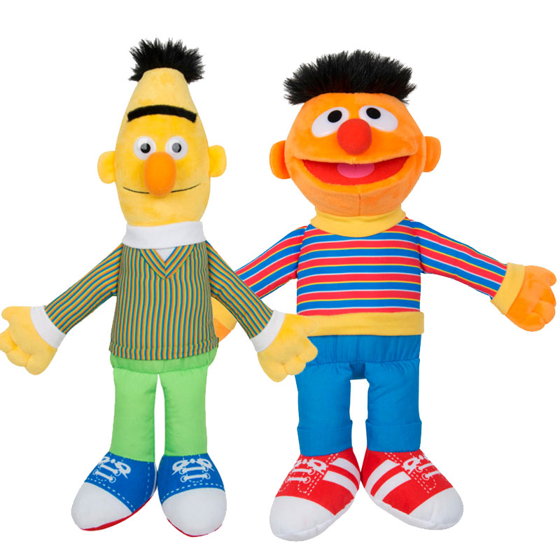 Official Sesame Street Large Bert and Ernie Soft Plush Toys 38cm