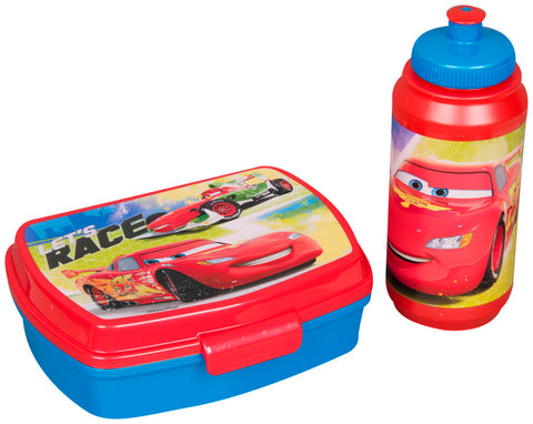 Official Disney Cars Sandwich Box & Sports Bottle Set