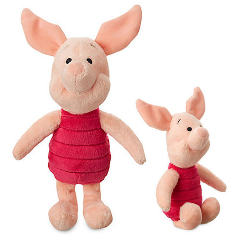 Official Disney Winnie The Pooh 20cm Piglet Minie Bean Soft Plush Toy