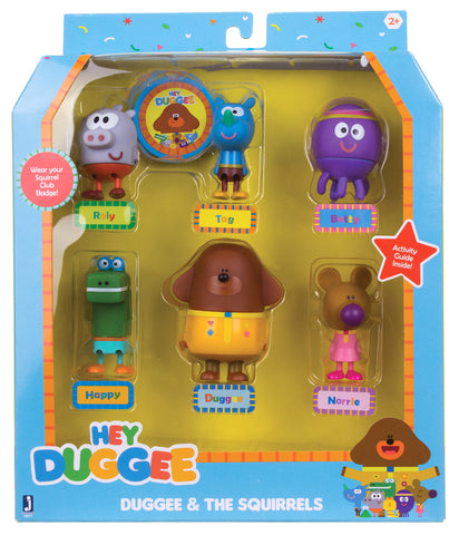 Hey Duggee Duggee & The Super Squirrels Figure 6 Pack