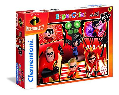 Clementoni Supercolor Disney The Incredibles 2 104 Piece Maxi Jigsaw Puzzle