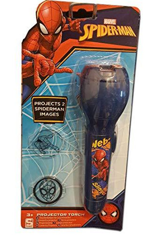 Marvel Spiderman Night Light Projector Torch Blue With 2 Slides