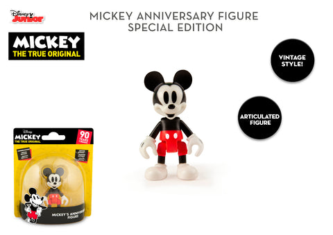 Disney Original Special Edition Mickey Mouse 90th Anniversary 8cm Figure