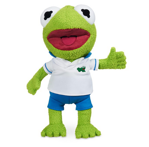 Official Disney Kermit the Frog Small Soft Plush Toy, Muppet Babies
