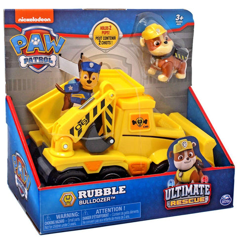Paw Patrol Ultimate Rescue Rubble Bulldozer With Figure