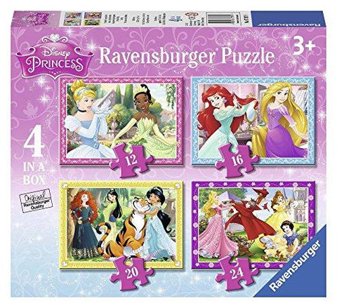 Ravensburger Disney Princess 4 in a box (12, 16, 20, 24pc) Jigsaw Puzzles 07397