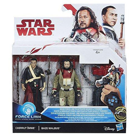 Disney Star Wars Force Link Chirrut Imwe & Baze Malbus 2 Pack