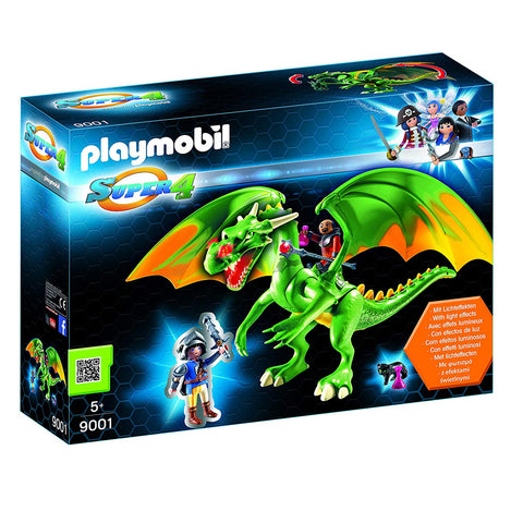 Playmobil Super 4 Kingsland Dragon with Alex & LED Fire Effects