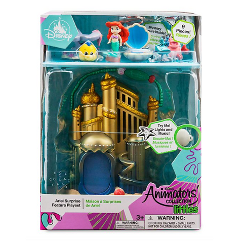Official Disney Little Mermaid Ariel Playset With Sound, Disney Animators Collection Littles