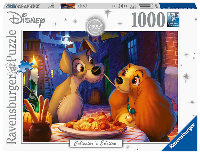 Ravensburger 13972 Disney Collector's Edition Lady & The Tramp 1000pc Jigsaw Puzzle,