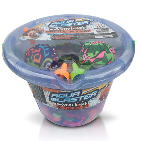 Aqua Blaster Water Bomb Battle Bucket 300 Water Balloons