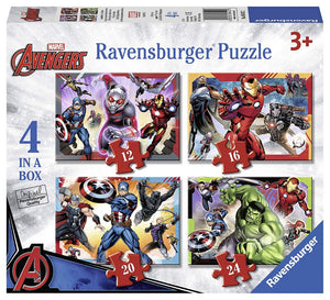 Ravensburger Marvel Avengers 4 in a Box (12, 16, 20, 24pc) Jigsaw Puzzles
