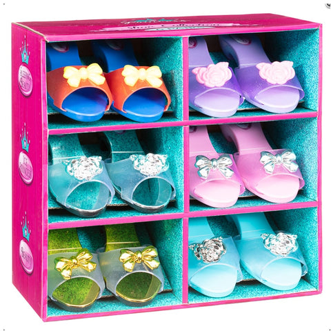 Princess Girls Set of 6 Fancy Dress Up Shoes Collection Set