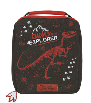 Spearmark National Geographic Dinosaur Red and Black Lunchbag and Bottle