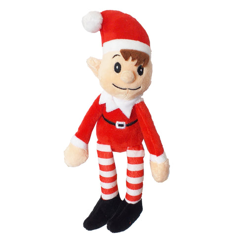 Elves Made Approved By Elf Christmas Xmas 31cm Red Elf Soft Plush Toy