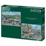 Jumbo 11238 Falcon de Luxe Bowness and Keswick 2 x 500 Piece Jigsaw Puzzle