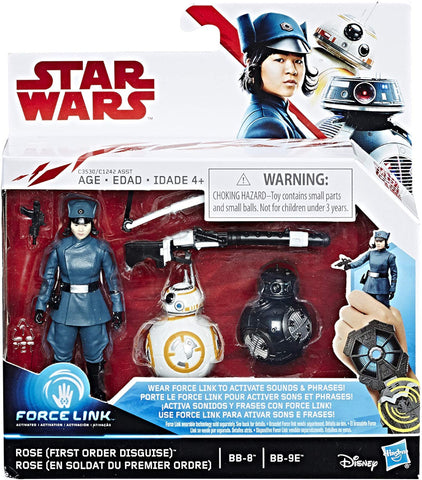 Star Wars Force Link 3 Pack - Rose (First Order Disguise) BB8 & BB9