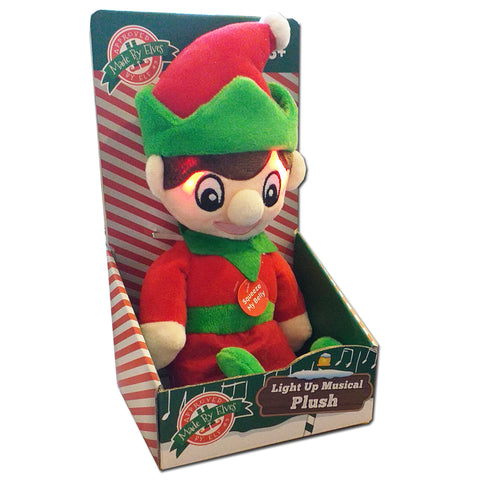 Made By Elves Light Up Musical Jingle Bells 28cm Soft Plush