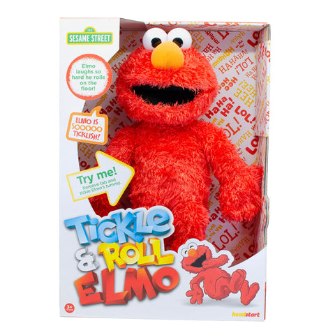 Sambro Sesame Street Tickle And Roll Elmo With 20 Sounds
