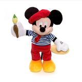 Official Disney Mickey Mouse Paris Artist 38cm Soft Plush Toy