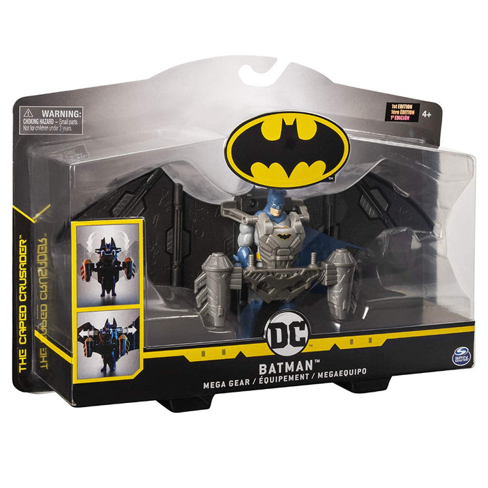 DC Batman 4''  Mega Gear Deluxe Action Figure with Transforming Armor