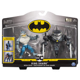 Batman 4''  King Shark Mega Gear Deluxe Action Figure with Transforming Armor