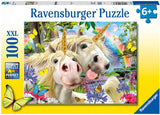 Ravensburger 12898 Unicorn Selfies Worry, Be Happy XXL 100pc Jigsaw Puzzle