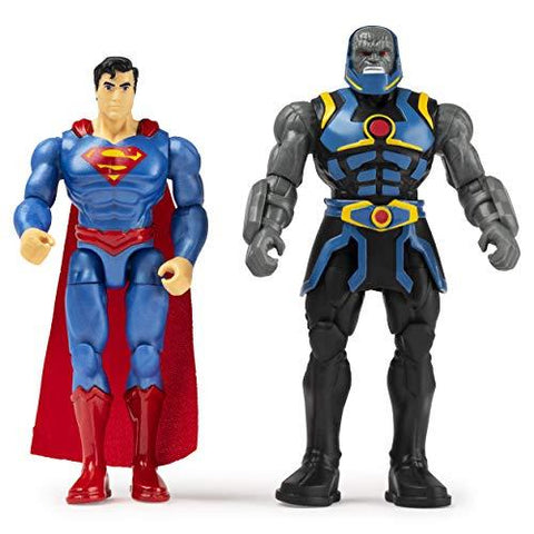 DC Universe 6056931 4 Inch SUPERMAN vs. DARKSEID Action Figure 2 Pack