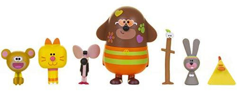 Hey Duggee and Friends Set Including Duggee, Stick, Naughty Monkey, Chicken, Mouse, Rabbit and Enid The Cat