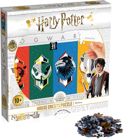 Winning Moves Harry Potter House Crests 500 piece Jigsaw Puzzle