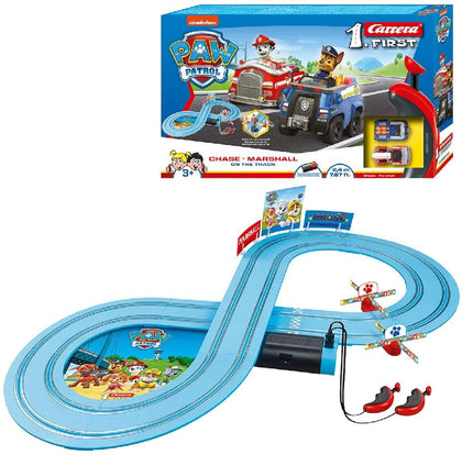 Carrera Paw Patrol Chase & Marshall  Slot Car Racing System Figure of 8 Kart Track with 2 Cars
