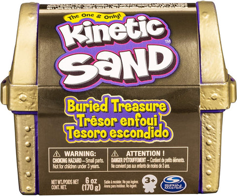 Kinetic Sand, Buried Treasure Playset with 170g of Kinetic Sand and Surprise Hidden Tool