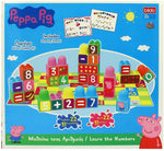 Bildo Peppa Pig Blocks with Numbers