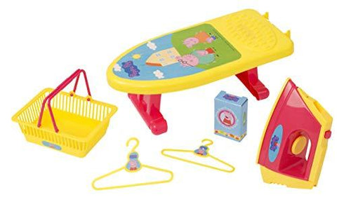 Peppa Pig Little Helper Set Iron Ironing Board and Shopping Basket