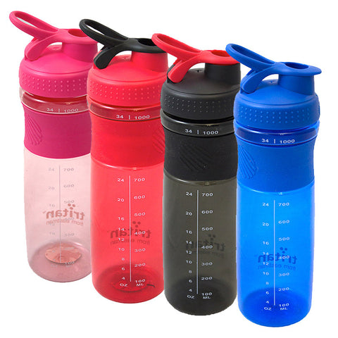 NEW Tritan Large Sports Drinking Water Bottle 1L - Colour Blue
