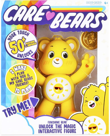 Care Bears ''Unlock the Magic'' Collectible Interactive Figure 5'' - Funshine Bear